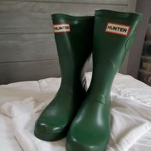 HUNTER- green rain boots